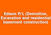 Edison P/L (Demoliton, Excavation and residential basement construction)