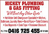 Hickey Plumbing & Gas Fitting