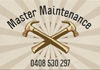 Master Maintenance and renovations