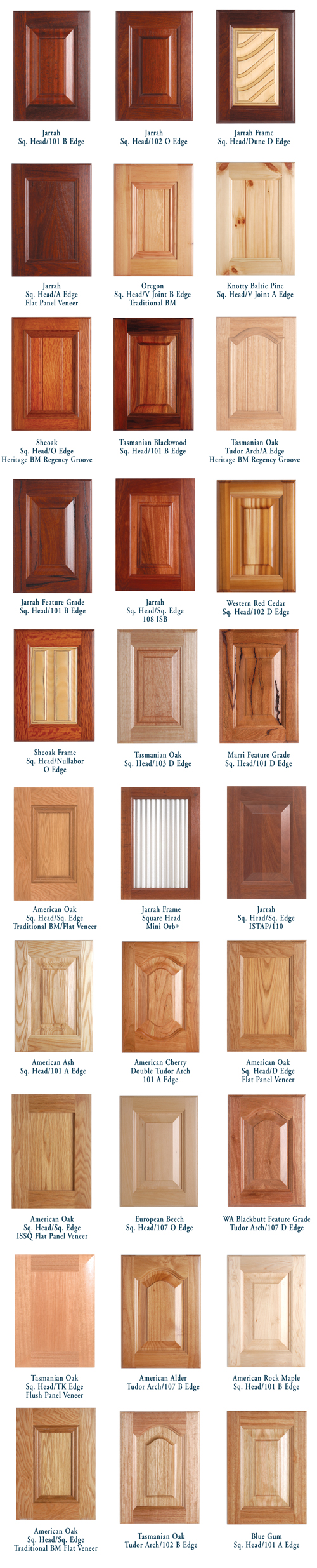 ... European Beech Fiji Cedar Hoop Pine Jarrah Lodgepole Pine MDF Nyatoh Oregon Radiata Pine Rock Maple Sheoak Tasmanian Oak Western Red Cedar.  sc 1 st  Hipages & Solid Timber Cabinet Doors - Proform Products